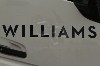 World © Octane Photographic Ltd. 2014 Formula 1 Winter Testing, Circuito de Velocidad, Jerez Winter testing set up day – Monday 27th January 2014. New Williams F1 Team logo. Digital Ref : 0879cb7d6974