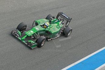World © Octane Photographic Ltd. 2014 Formula 1 Winter Testing, Circuito de Velocidad, Jerez. Tuesday 28th January 2014. Day 1. Caterham F1 Team CT05 – Marcus Ericsson. Digital Ref: 0882cb1d9587
