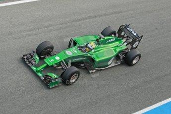 World © Octane Photographic Ltd. 2014 Formula 1 Winter Testing, Circuito de Velocidad, Jerez. Tuesday 28th January 2014. Day 1. Caterham F1 Team CT05 – Marcus Ericsson. Digital Ref: 0882cb1d9594