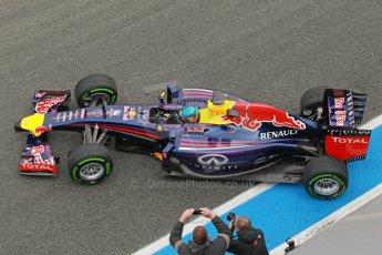 World © Octane Photographic Ltd. 2014 Formula 1 Winter Testing, Circuito de Velocidad, Jerez. Tuesday 28th January 2014. Day 1. Infiniti Red Bull Racing RB10 - Sebastian Vettel. Digital Ref: 0882cb1d9712