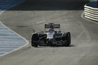 World © Octane Photographic Ltd. 2014 Formula 1 Winter Testing, Circuito de Velocidad, Jerez. Tuesday 28th January 2014. Day 1. Scuderia Toro Rosso STR9 - Jean-Eric Vergne. Digital Ref: 0882lb1d0092