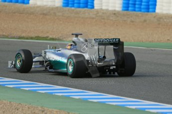 World © Octane Photographic Ltd. 2014 Formula 1 Winter Testing, Circuito de Velocidad, Jerez. Tuesday 28th January 2014. Day 1. Mercedes AMG Petronas F1 W05 – Lewis Hamilton. Digital Ref: 0882lb1d0146