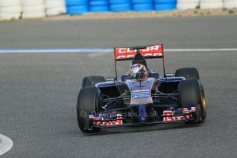 World © Octane Photographic Ltd. 2014 Formula 1 Winter Testing, Circuito de Velocidad, Jerez. Tuesday 28th January 2014. Day 1. Scuderia Toro Rosso STR9 - Jean-Eric Vergne. Digital Ref: 0882lb1d0181