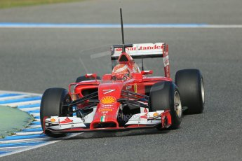 World © Octane Photographic Ltd. 2014 Formula 1 Winter Testing, Circuito de Velocidad, Jerez. Tuesday 28th January 2014. Day 1. Scuderia Ferrari F14T – Kimi Raikkonen. Digital Ref: 0882lb1d0204