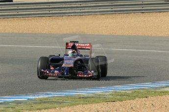 World © Octane Photographic Ltd. 2014 Formula 1 Winter Testing, Circuito de Velocidad, Jerez. Tuesday 28th January 2014. Day 1. Scuderia Toro Rosso STR9 - Jean-Eric Vergne. Digital Ref: 0882lb1d0237