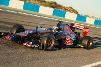 World © Octane Photographic Ltd. 2014 Formula 1 Winter Testing, Circuito de Velocidad, Jerez. Thursday 30th January 2014. Day 3. Scuderia Toro Rosso STR9 - Jean-Eric Vergne. Digital Ref: 0887cb1d0433