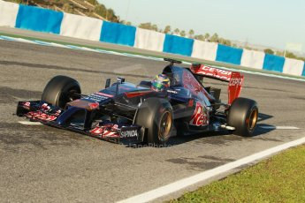 World © Octane Photographic Ltd. 2014 Formula 1 Winter Testing, Circuito de Velocidad, Jerez. Thursday 30th January 2014. Day 3. Scuderia Toro Rosso STR9 - Jean-Eric Vergne. Digital Ref: 0887cb1d0499
