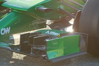 World © Octane Photographic Ltd. 2014 Formula 1 Winter Testing, Circuito de Velocidad, Jerez. Thursday 30th January 2014. Day 3. Caterham F1 Team CT05 – Robin Frijns. Digital Ref: 0887cb1d0590