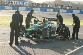 World © Octane Photographic Ltd. 2014 Formula 1 Winter Testing, Circuito de Velocidad, Jerez. Thursday 30th January 2014. Day 3. Caterham F1 Team CT05 – Robin Frijns. Digital Ref: 0887cb1d0608