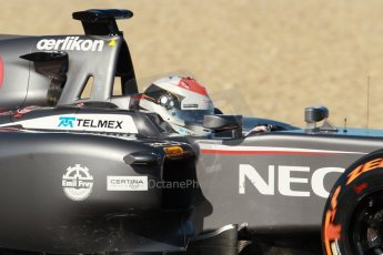 World © Octane Photographic Ltd. 2014 Formula 1 Winter Testing, Circuito de Velocidad, Jerez. Thursday 30th January 2014. Day 3. Sauber C33 Ferrari – Adrian Sutil. Digital Ref: 0887cb1d0725