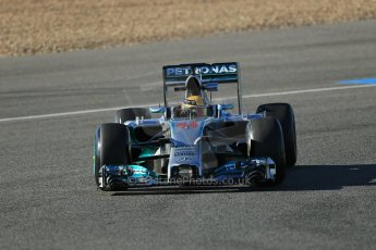 World © Octane Photographic Ltd. 2014 Formula 1 Winter Testing, Circuito de Velocidad, Jerez. Thursday 30th January 2014. Day 3. Mercedes AMG Petronas F1 W05 – Lewis Hamilton. Digital Ref: 0887lb1d2199