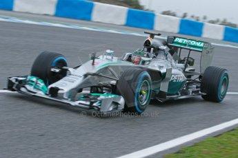 World © Octane Photographic Ltd. 2014 Formula 1 Winter Testing, Circuito de Velocidad, Jerez. Friday 31st January 2014. Day 4. Mercedes AMG Petronas F1 W05 - Nico Rosberg. Digital Ref: 0888cb1d1259