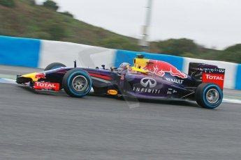 World © Octane Photographic Ltd. 2014 Formula 1 Winter Testing, Circuito de Velocidad, Jerez. Friday 31st January 2014. Day 4. Infiniti Red Bull Racing RB10 – Daniel Ricciardo. Digital Ref: 0888cb1d1343