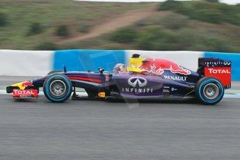 World © Octane Photographic Ltd. 2014 Formula 1 Winter Testing, Circuito de Velocidad, Jerez. Friday 31st January 2014. Day 4. Infiniti Red Bull Racing RB10 – Daniel Ricciardo. Digital Ref: 0888cb1d1355