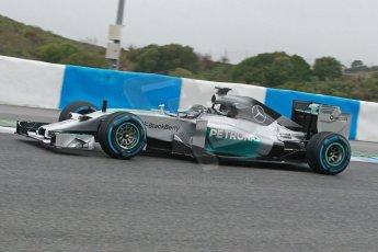 World © Octane Photographic Ltd. 2014 Formula 1 Winter Testing, Circuito de Velocidad, Jerez. Friday 31st January 2014. Day 4. Mercedes AMG Petronas F1 W05 - Nico Rosberg. Digital Ref: 0888cb1d1434