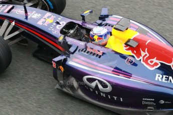 World © Octane Photographic Ltd. 2014 Formula 1 Winter Testing, Circuito de Velocidad, Jerez. Friday 31st January 2014. Day 4. Infiniti Red Bull Racing RB10 – Daniel Ricciardo. Digital Ref: 0888cb1d1502