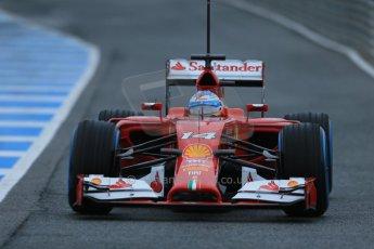 World © Octane Photographic Ltd. 2014 Formula 1 Winter Testing, Circuito de Velocidad, Jerez. Friday 31st January 2014. Day 4. Scuderia Ferrari F14T - Fernando Alonso. Digital Ref: 0888lb1d2745