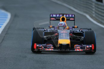 World © Octane Photographic Ltd. 2014 Formula 1 Winter Testing, Circuito de Velocidad, Jerez. Friday 31st January 2014. Day 4. Infiniti Red Bull Racing RB10 – Daniel Ricciardo. Digital Ref: 0888lb1d2776