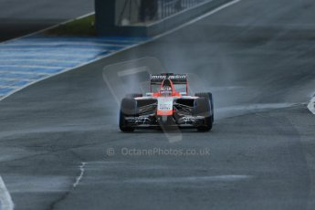 World © Octane Photographic Ltd. 2014 Formula 1 Winter Testing, Circuito de Velocidad, Jerez. Friday 31st January 2014. Day 4. Marussia F1 Team MR03 - Jules Bianchi. Digital Ref: 0888lb1d2846