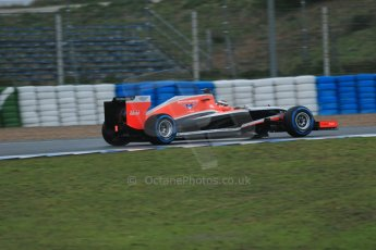 World © Octane Photographic Ltd. 2014 Formula 1 Winter Testing, Circuito de Velocidad, Jerez. Friday 31st January 2014. Day 4. Marussia F1 Team MR03 - Jules Bianchi. Digital Ref: 0888lb1d2867