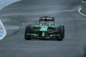 World © Octane Photographic Ltd. 2014 Formula 1 Winter Testing, Circuito de Velocidad, Jerez. Friday 31st January 2014. Day 4. Caterham F1 Team CT05 – Kamui Kobayashi. Digital Ref: 0888lb1d2904