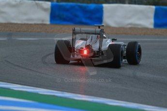World © Octane Photographic Ltd. 2014 Formula 1 Winter Testing, Circuito de Velocidad, Jerez. Friday 31st January 2014. Day 4. Sauber C33 Ferrari – Adrian Sutil. Rear end details. Digital Ref: 0888lb1d2938
