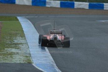 World © Octane Photographic Ltd. 2014 Formula 1 Winter Testing, Circuito de Velocidad, Jerez. Friday 31st January 2014. Day 4. Scuderia Ferrari F14T - Fernando Alonso. Rear end details. Digital Ref: 0888lb1d3012