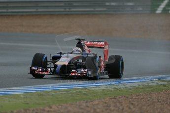 World © Octane Photographic Ltd. 2014 Formula 1 Winter Testing, Circuito de Velocidad, Jerez. Friday 31st January 2014. Day 4. Scuderia Toro Rosso STR 9 – Daniil Kvyat. Digital Ref: 0888lb1d3252