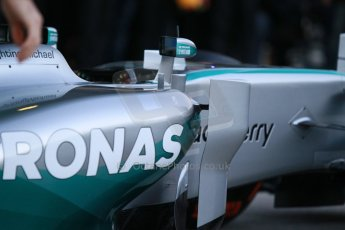 World © Octane Photographic Ltd. 2014 Formula 1 Winter Testing, Circuito de Velocidad, Jerez. Tuesday 27th January 2014. Mercedes AMG Petronas F1 W05 launch. Digital Ref: 0884cb1d9145
