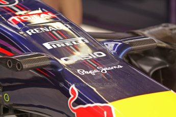 World © Octane Photographic Ltd. Thursday 22nd May 2014. Monaco - Monte Carlo - Formula 1 Practice 1. Infiniti Red Bull Racing RB10 - new nose camera mountings. Digital Ref: 0958CB7D1992