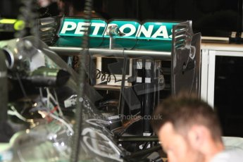 World © Octane Photographic Ltd. Thursday 22nd May 2014. Monaco - Monte Carlo - Formula 1 Practice 1. Mercedes AMG Petronas F1 W05 Hybrid - Rear wing. Digital Ref: 0958CB7D2012