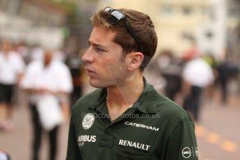 World © Octane Photographic Ltd. Thursday 22nd May 2014. Monaco - Monte Carlo - Formula 1 Practice 1. Caterham F1 Team CT05 – Robin Frijns – Reserve Driver. Digital Ref: 0958CB7D2045
