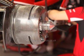 World © Octane Photographic Ltd. Thursday 22nd May 2014. Monaco - Monte Carlo - Formula 1 Practice 1. Scuderia Ferrari F14T - Front brake and non vented hub. Digital Ref:  0958CB7D2049