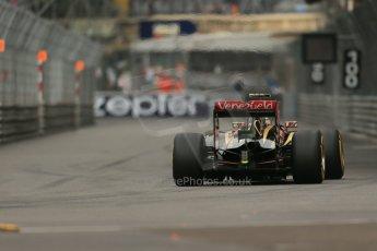 World © Octane Photographic Ltd. Thursday 22nd May 2014. Monaco - Monte Carlo - Formula 1 Practice 1. Lotus F1 Team E22 – Pastor Maldonado. Digital Ref: 0958LB1D3367