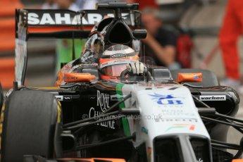 World © Octane Photographic Ltd. Thursday 22nd May 2014. Monaco - Monte Carlo - Formula 1 Practice 1. Sahara Force India VJM07 – Nico Hulkenburg. Digital Ref : 0958LB1D3655