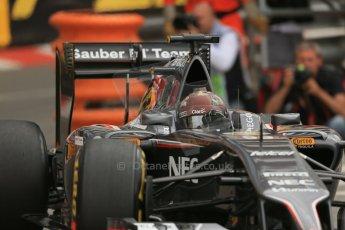 World © Octane Photographic Ltd. Thursday 22nd May 2014. Monaco - Monte Carlo - Formula 1 Practice 1. Sauber C33 – Adrian Sutil. Digital Ref: 0958LB1D3661