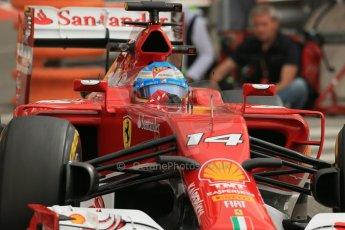 World © Octane Photographic Ltd. Thursday 22nd May 2014. Monaco - Monte Carlo - Formula 1 Practice 1. Scuderia Ferrari F14T - Fernando Alonso. Digital Ref: 0958LB1D3703