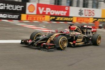 World © Octane Photographic Ltd. Thursday 22nd May 2014. Monaco - Monte Carlo - Formula 1 Practice 1. Lotus F1 Team E22 - Romain Grosjean. Digital Ref: 0958LB1D3919