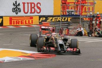 World © Octane Photographic Ltd. Thursday 22nd May 2014. Monaco - Monte Carlo - Formula 1 Practice 1. Lotus F1 Team E22 – Pastor Maldonado. Digital Ref: 0958LB1D3942