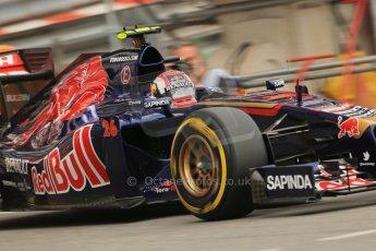 World © Octane Photographic Ltd. Thursday 22nd May 2014. Monaco - Monte Carlo - Formula 1 Practice 1. Scuderia Toro Rosso STR 9 – Daniil Kvyat. Digital Ref: 0958LB1D3981