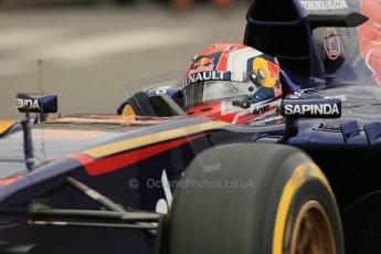 World © Octane Photographic Ltd. Thursday 22nd May 2014. Monaco - Monte Carlo - Formula 1 Practice 1. Scuderia Toro Rosso STR 9 – Daniil Kvyat. Digital Ref: 0958LB1D3988