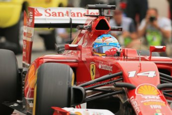 World © Octane Photographic Ltd. Thursday 22nd May 2014. Monaco - Monte Carlo - Formula 1 Practice 1. Scuderia Ferrari F14T - Fernando Alonso. Digital Ref: 0958LB1D4009