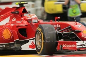 World © Octane Photographic Ltd. Thursday 22nd May 2014. Monaco - Monte Carlo - Formula 1 Practice 1. Scuderia Ferrari F14T – Kimi Raikkonen. Digital Ref: 0958LB1D4030