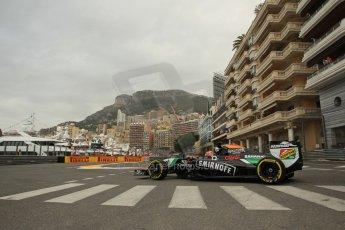 World © Octane Photographic Ltd. Thursday 22nd May 2014. Monaco - Monte Carlo - Formula 1 Practice 1. Sahara Force India VJM07 – Nico Hulkenburg. Digital Ref : 0958LB1D6256