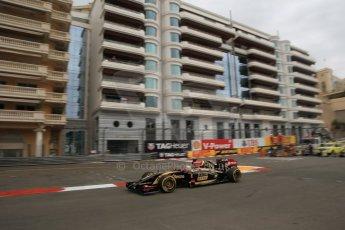 World © Octane Photographic Ltd. Thursday 22nd May 2014. Monaco - Monte Carlo - Formula 1 Practice 1. Lotus F1 Team E22 - Romain Grosjean. Digital Ref: 0958LB1D6315