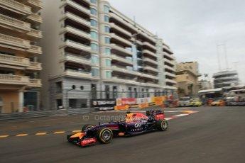 World © Octane Photographic Ltd. Thursday 22nd May 2014. Monaco - Monte Carlo - Formula 1 Practice 1. Infiniti Red Bull Racing RB10 - Sebastian Vettel. Digital Ref: 0958LB1D6417