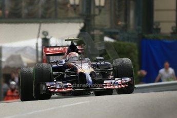 World © Octane Photographic Ltd. Thursday 22nd May 2014. Monaco - Monte Carlo - Formula 1 Practice 2. Scuderia Toro Rosso STR 9 – Daniil Kvyat. Digital Ref: 0960LB1D4639