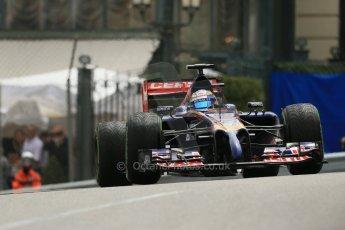 World © Octane Photographic Ltd. Thursday 22nd May 2014. Monaco - Monte Carlo - Formula 1 Practice 2. Scuderia Toro Rosso STR9 - Jean-Eric Vergne. Digital Ref: 0960LB1D4653