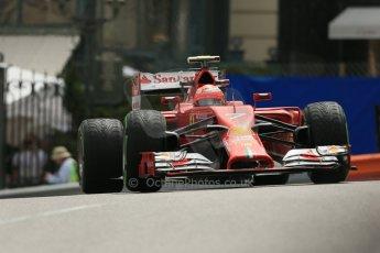 World © Octane Photographic Ltd. Thursday 22nd May 2014. Monaco - Monte Carlo - Formula 1 Practice 2. Scuderia Ferrari F14T – Kimi Raikkonen. Digital Ref: 0960LB1D4682