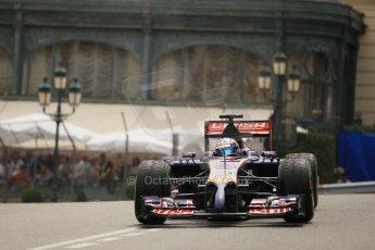 World © Octane Photographic Ltd. Thursday 22nd May 2014. Monaco - Monte Carlo - Formula 1 Practice 2. Scuderia Toro Rosso STR9 - Jean-Eric Vergne. Digital Ref: 0960LB1D6556
